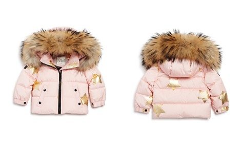 SAM. Girls' Star-Print Fur-Trimmed Down Jacket - Baby - Bloomingdale's_2