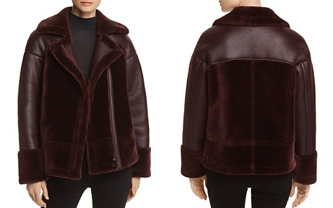 Whistles Faux Shearling Biker Jacket - 100% Exclusive - Bloomingdale's_2