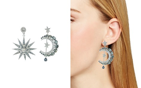 Oscar de la Renta Mismatched Moon & Star Drop Earrings - Bloomingdale's_2