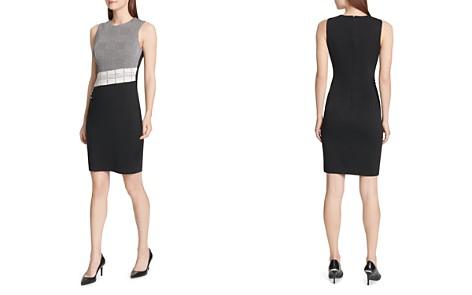Calvin Klein Plaid Color-Block Dress - Bloomingdale's_2