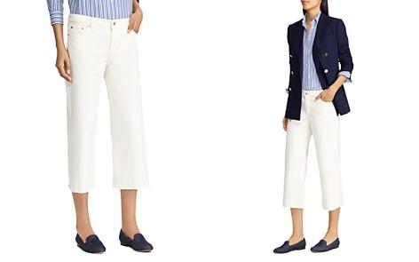 Lauren Ralph Lauren Cropped Wide-Leg Jeans in Cream - Bloomingdale's_2
