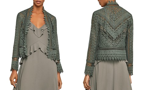 BCBGMAXAZRIA Scalloped Lace Jacket - Bloomingdale's_2