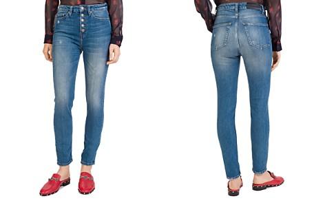 The Kooples Lizy Crop Straight Jeans in Blue - Bloomingdale's_2