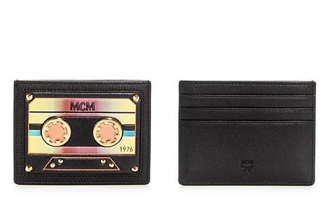 MCM Cassette Leather Mini Card Case - Bloomingdale's_2