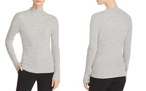 Badgley Mischka Ribbed Mock-Neck Cashmere Sweater - Bloomingdale's_2