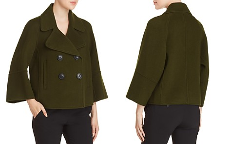Elie Tahari Edna Cropped Wool Peacoat - Bloomingdale's_2