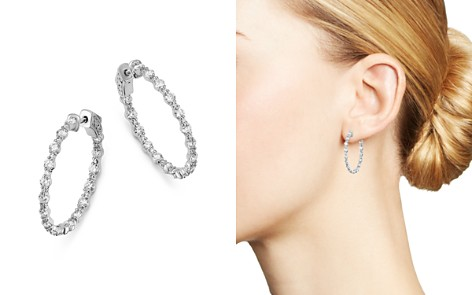 Bloomingdale's Diamond Delicate Inside Out Hoop Earrings in 14K White Gold, 2.4 ct. t.w. - 100% Exclusive_2