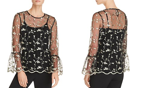 Sioni Sheer Embroidered Top - Bloomingdale's_2