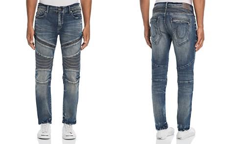 True Religion Rocco Slim Fit Moto Jeans in Combat Blue - Bloomingdale's_2