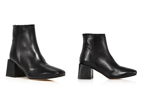 LoQ Women's Lazaro Almond Toe Leather Mid-Heel Booties - Bloomingdale's_2