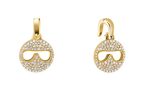 Michael Kors Custom Kors 14K Gold-Plated Sterling Silver Sunglass Emoji Charm - Bloomingdale's_2