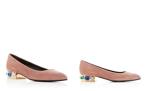 Casadei Women's Bisan Suede Embellished Pointed Toe Flats - Bloomingdale's_2