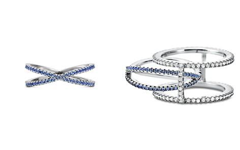 Michael Kors Custom Kors Sterling Silver Pavé Nesting Ring Insert - Bloomingdale's_2