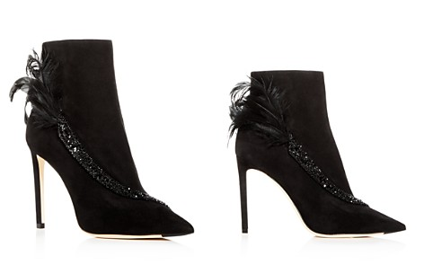 Jimmy Choo Women's Tanya 100 Embellished Suede High-Heel Booties - Bloomingdale's_2