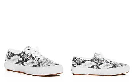 Superga Women's Classic Snake-Print Lace Up Sneakers - Bloomingdale's_2