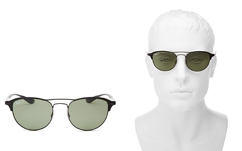 Ray-Ban Men's Brow Bar Polarized Mirrored Round Sunglasses, 54mm - Bloomingdale's_2