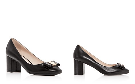 Cole Haan Women's Tali Leather Block-Heel Pumps - Bloomingdale's_2
