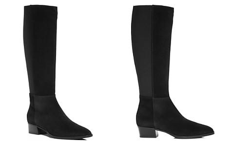 Aquatalia Women's Finola Weatherproof Suede Block-Heel Riding Boots - Bloomingdale's_2
