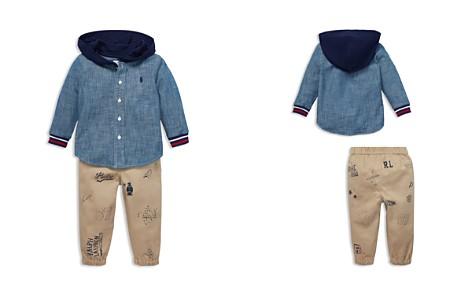 Ralph Lauren Boys' Chambray Hoodie & Printed Jogger Pants Set - Baby - Bloomingdale's_2