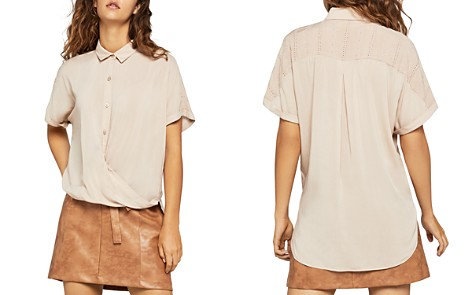 BCBGeneration Draped Crossover Top - Bloomingdale's_2