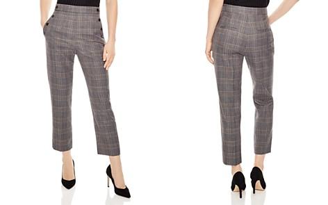 Sandro Binic Plaid Button-Detail Pants - Bloomingdale's_2