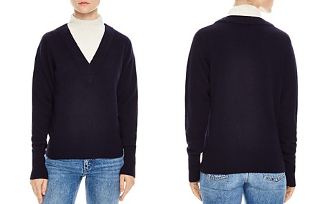 Sandro Jacques Color-Blocked Mock Neck Sweater - Bloomingdale's_2