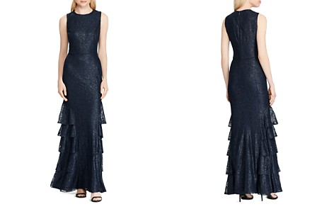 Lauren Ralph Lauren Ruffled Lace Gown - Bloomingdale's_2