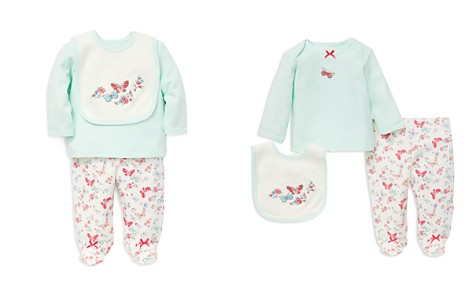Little Me Girls' Butterfly Tee, Footie Pants & Bib Set - Baby - Bloomingdale's_2