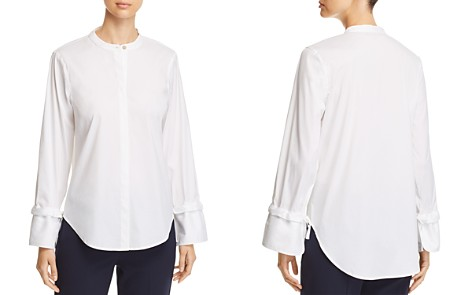 Donna Karan New York Button-Down Drawstring-Cuff Top - Bloomingdale's_2