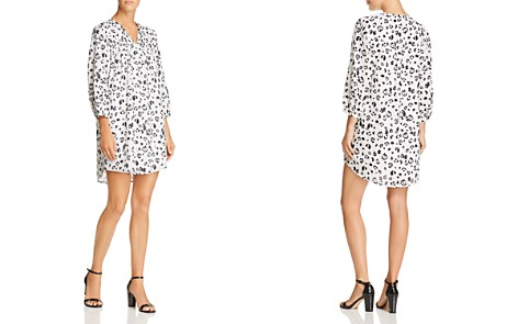 AQUA Smocked Animal Print Dress - 100% Exclusive - Bloomingdale's_2