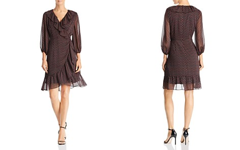 Adrianna Papell Faux-Wrap Foulard Dress - Bloomingdale's_2