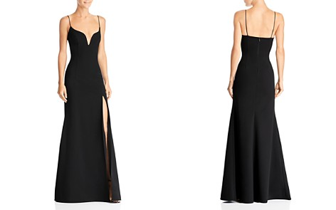 Wedding guest dresses from formal to casual bloomingdales jill jill stuart plunge neck gown bloomingdales2 junglespirit Images