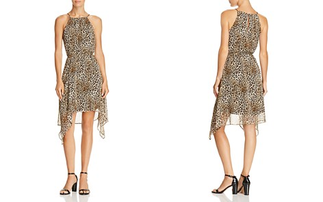 AQUA Leopard Print Curved-Hem Dress - 100% Exclusive - Bloomingdale's_2