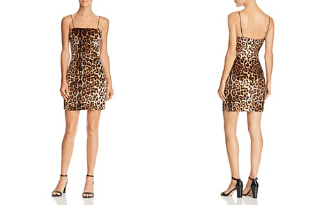 AQUA Leopard Print Velvet Dress - 100% Exclusive - Bloomingdale's_2