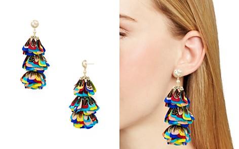 Kendra Scott Lenni Multicolor Feather Statement Earrings - Bloomingdale's_2