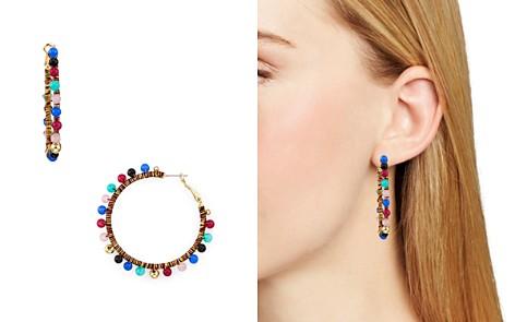 Rebecca Minkoff Multicolor Bead Hoop Earrings - Bloomingdale's_2