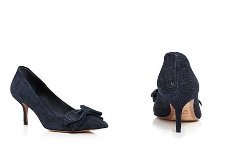 Tory Burch Women's Rosalind Pointed Toe Kitten Heel Pumps - Bloomingdale's_2