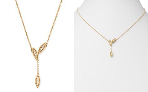 "Roberto Coin 18K Yellow Gold Diamond Petals Diamond Drop Pendant Necklace, 16"" - 100% Exclusive - Bloomingdale's_2"