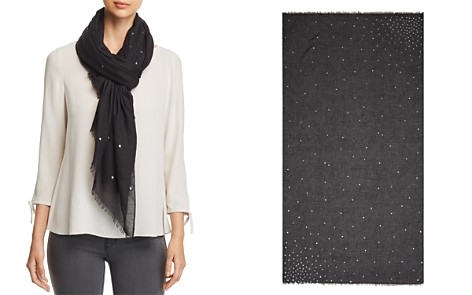AQUA Starburst Foil Scarf - 100% Exclusive - Bloomingdale's_2