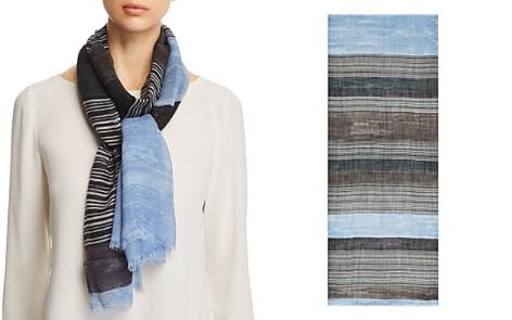 AQUA Variegated Striped Wool Scarf - 100% Exclusive - Bloomingdale's_2