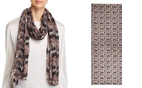 AQUA Brushstroke Print Wool Scarf - 100% Exclusive - Bloomingdale's_2