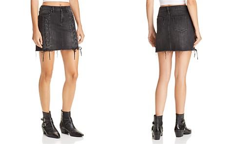 BLANKNYC Lace-Up Denim Skirt - Bloomingdale's_2