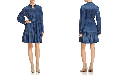 La Vie Rebecca Taylor Long-Sleeve Tissue-Denim Dress - Bloomingdale's_2
