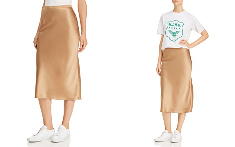 Anine Bing Bar Silk Skirt - Bloomingdale's_2