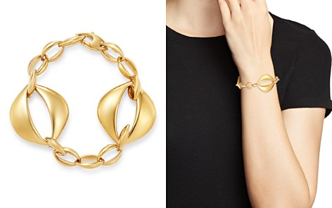 Bloomingdale's Oval Interlock Bracelet in 14K Yellow Gold - 100% Exclusive_2