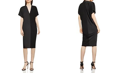 BCBGMAXAZRIA Satin & Jersey Shift Dress - Bloomingdale's_2