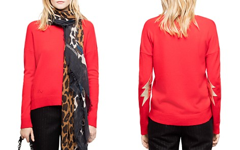 Zadig & Voltaire Cici Lightning-Patch Cashmere Sweater - Bloomingdale's_2