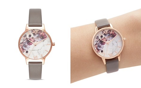 Olivia Burton Marbled Floral-Pattern Leather Strap Watch, 30mm - Bloomingdale's_2