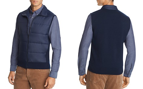 The Men's Store at Bloomingdale's Mixed-Media Vest - 100% Exclusive _2