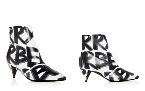 Burberry Women's Wilsbeck Graffiti Logo Print Leather Mid-Heel Booties - Bloomingdale's_2